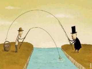 Εξαναγκασμός υπάρχει όταν τα άτομα ενεργούν όχι για την επιδίωξη δικών τους σκοπών αλλά για την πραγμάτωση σκοπών τρίτων.